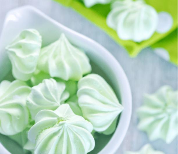 Mini Mint Meringue Bites