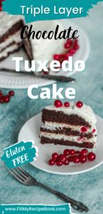 Triple Layer Chocolate Tuxedo Cake