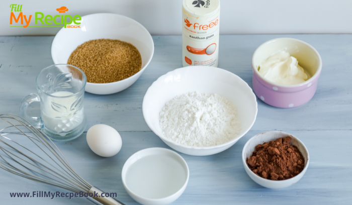 ingredients for the cake to be made.