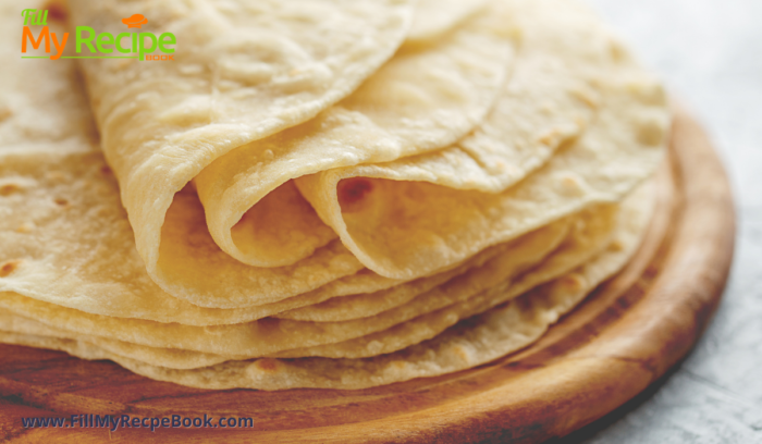tortillas ready to use all stacked on a board