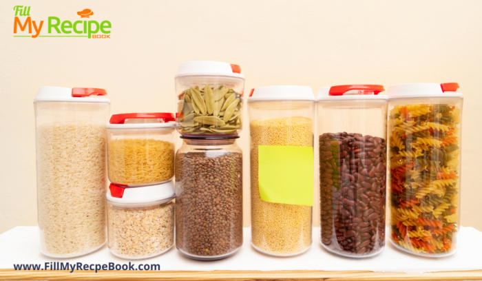 bottled dry food storage