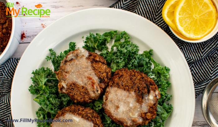 Lentil cakes with garlic sauce