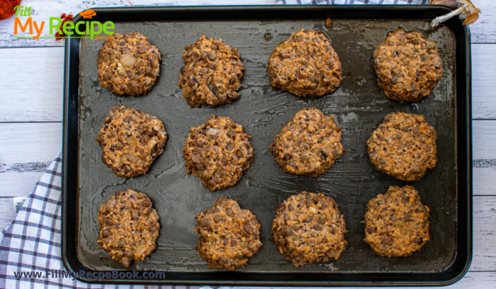 lentil cakes made by hand and ready to cook