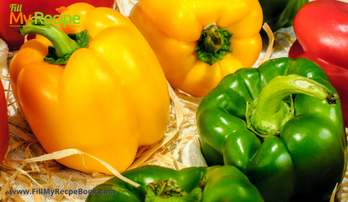 yellow red and green bell peppers