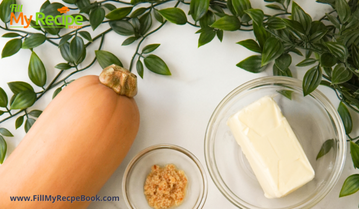 butternut and butter and garlic ingredients