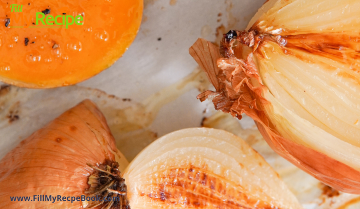 roasted butternut and onion