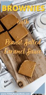 Brownies with Peanut Salted Caramel Sauce
