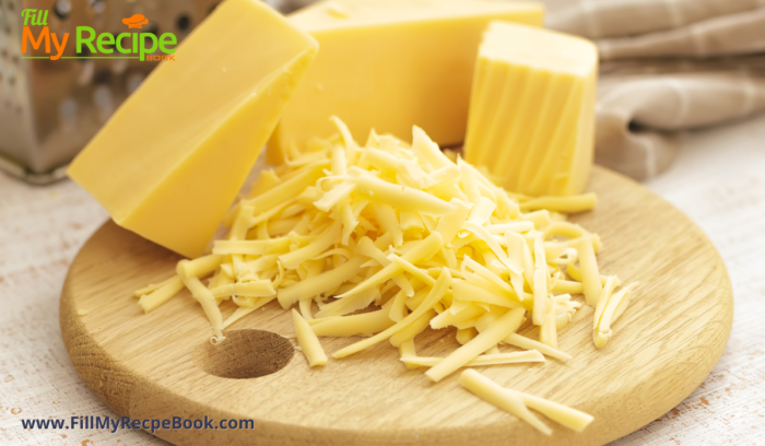 grated cheese to add in the omelet.