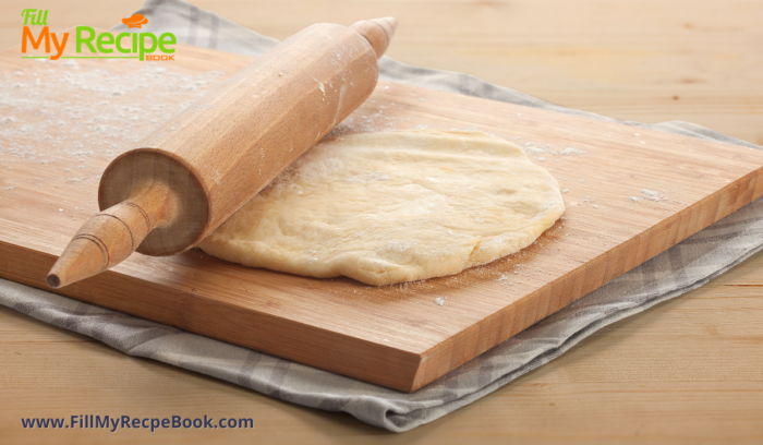 rolling out the dough Polish Kolaczki Cookies