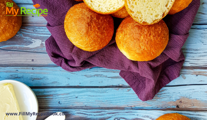 baked rolls on a towel to cool
