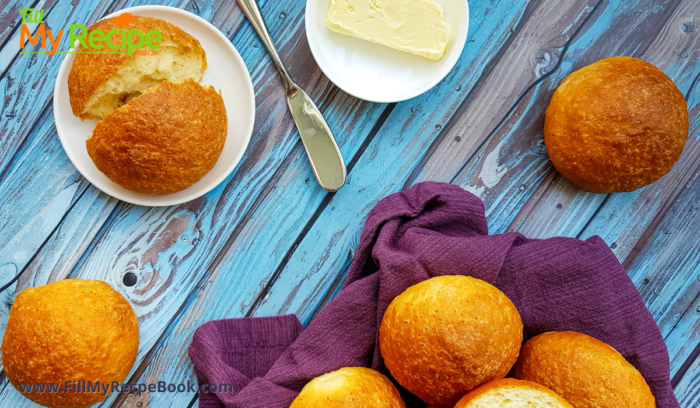Butter these fresh golden brown rolls and enjoy