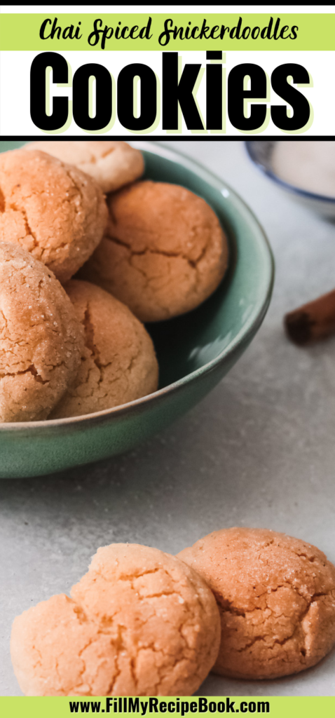 a Pinterest post on chia spiced snickerdoodles cookies recipes