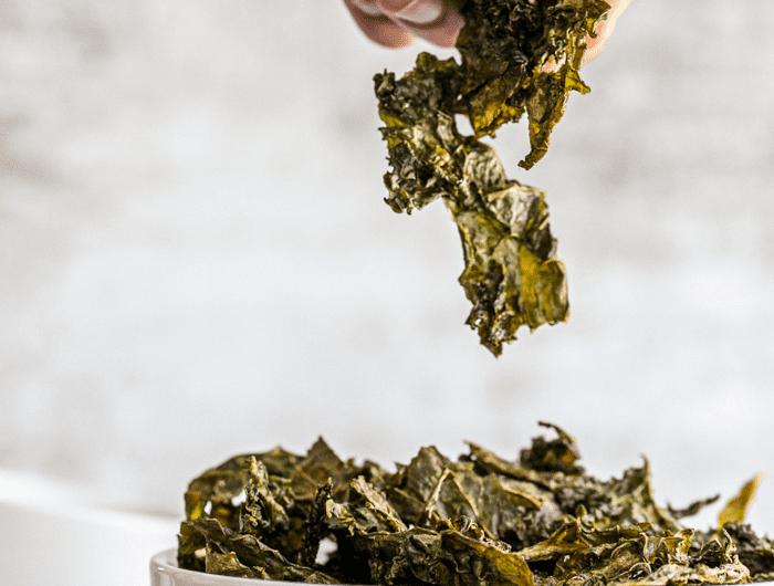 Healthy Garlic salted Kale Chips