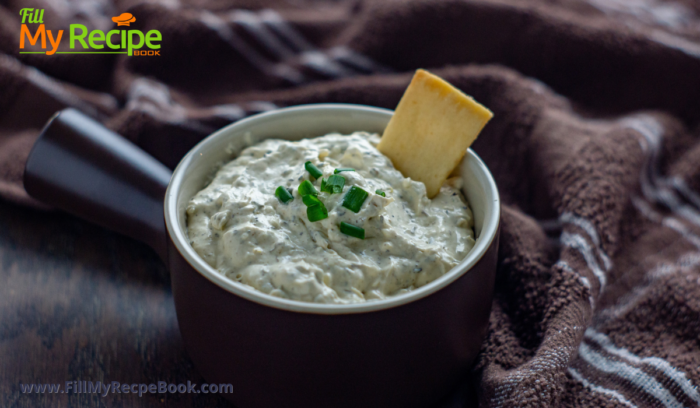 served green onion dip with biscuits