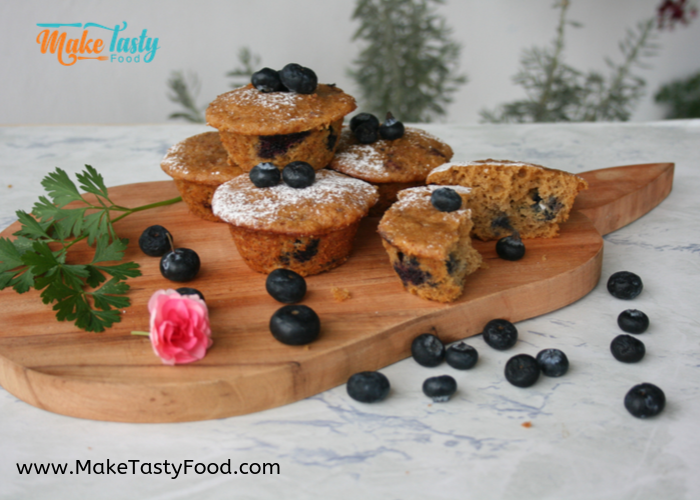 tasty banana blueberry muffins