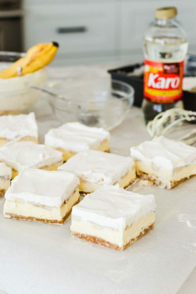no bake banana cream pies