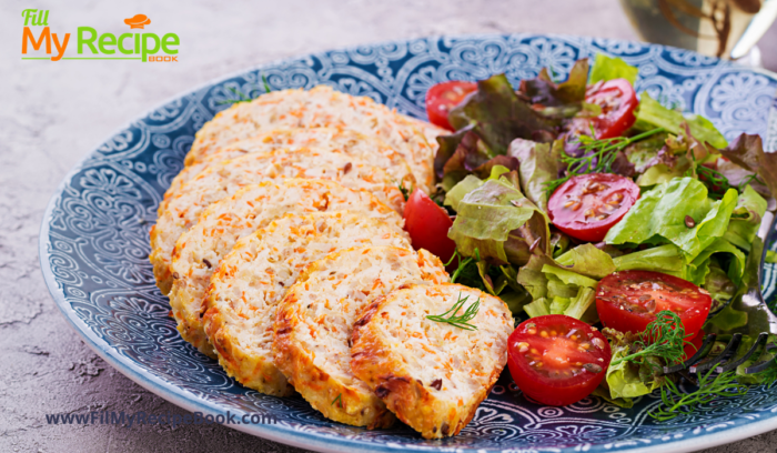 A turkey loaf with salad for supper