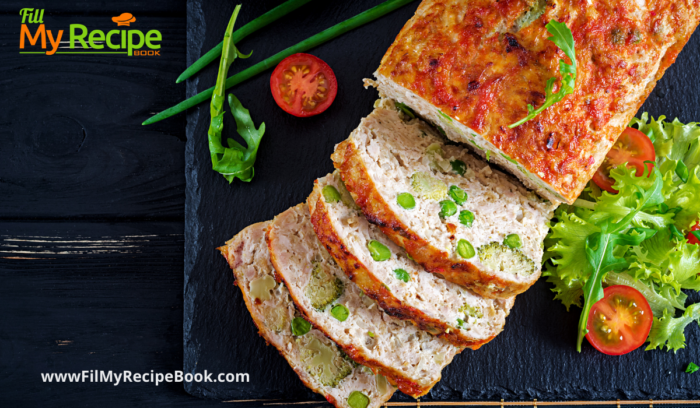 sliced amazing turkey loaf with veggies to eat with a salad
