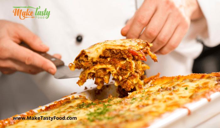 Homemade Tangy Lasagna Dish