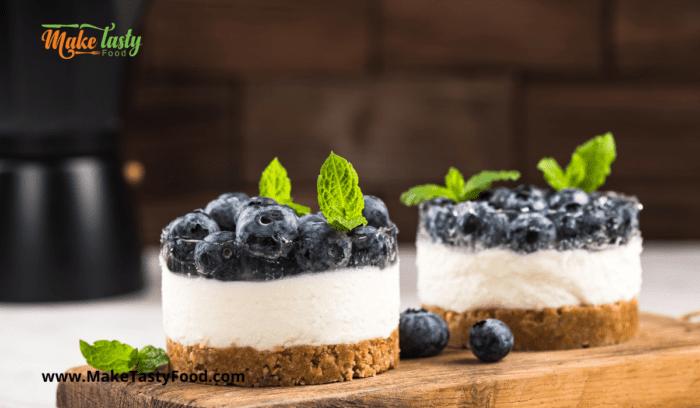 Mini Blueberry Cheesecake Tartlets