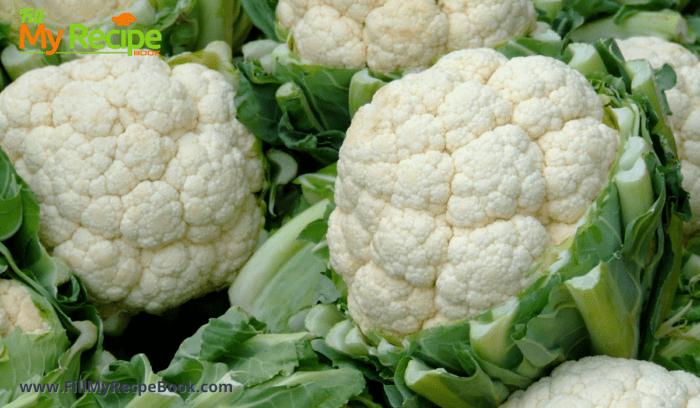 fresh heads of cauliflower for roasting vegetables