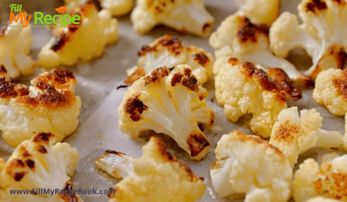 final roasting pan with cauliflower florets