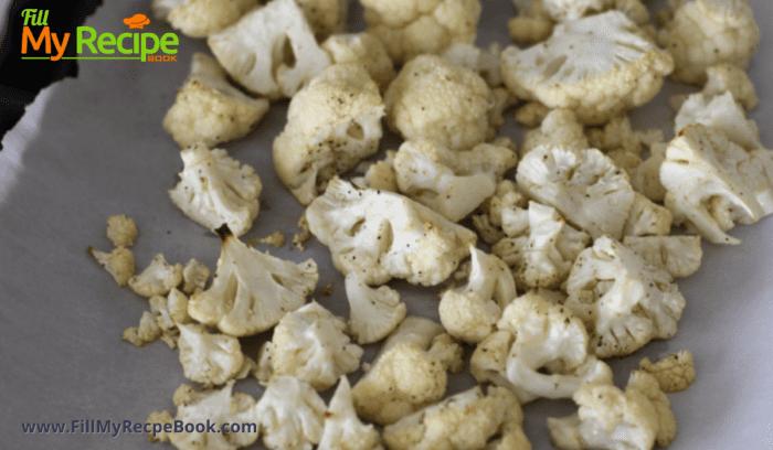 trimmed cauliflower florets for roasting