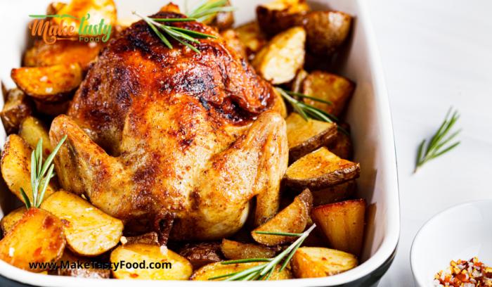 Sunday Roasted Chicken and Potato's
