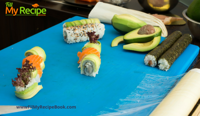 how to make your own sushi and serving it