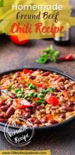 Homemade Ground Beef Chili Recipe